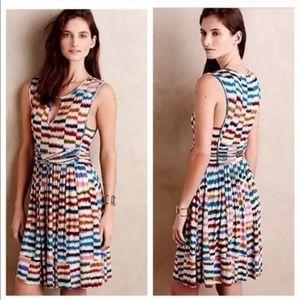 Maeve Anthropologie Sennebec Multi Colored Dress